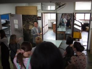 Chugye U Professor Jeong showing us studio