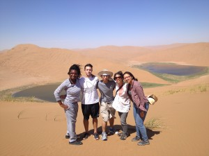 DePauw group at the Badanjilin Desert