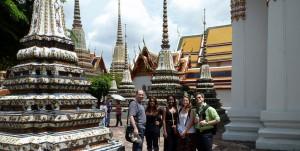 Green Mountain College research team examining Thailand's environmental development August 2013.