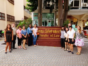 Green Mountain College and Thammasat University Law School students teaming up to conduct legal research on Thailand's environmental development. Bangkok, August 2013.