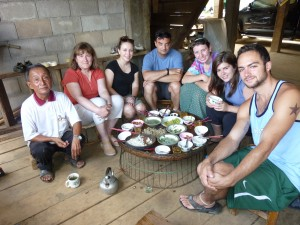 Group Photo—Meal at a Villager's Home, Chiang Rai province, Thailand