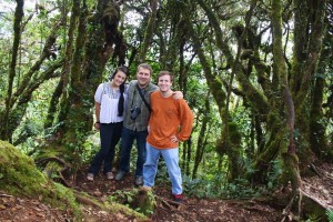 Michael, Meagan, and Dr. Abbott, at the tea plantations in the Cameron Highlands, Malaysia