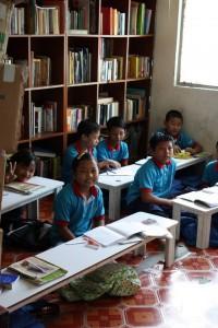 Children at a school for Chin refugee children