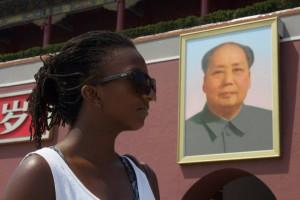 Antonia outside the Forbidden City.