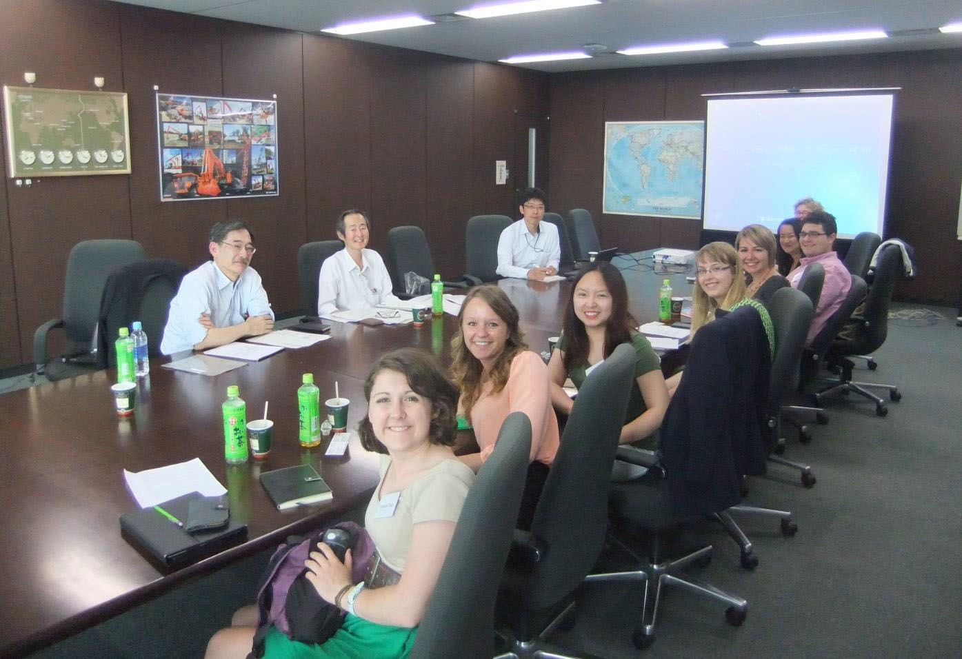 Students visiting the HCM headquarters and meeting with the people. June 1, 2015.