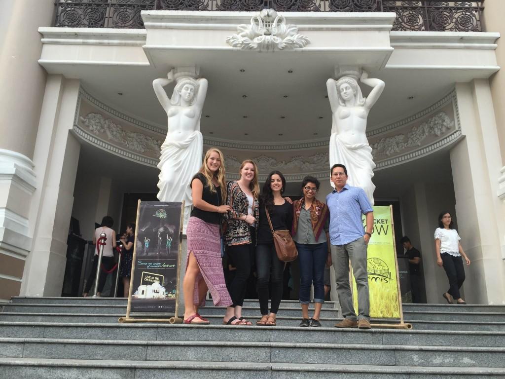 Group photo at opera house.