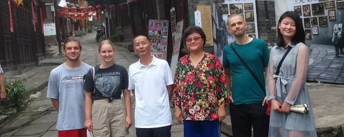 Touring Zou Ma town with a folklorist