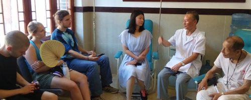 Interviewing locals in Zou Ma Town, Chongqing