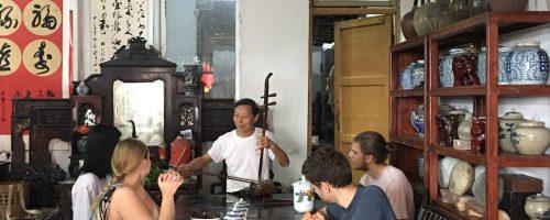 Interviewing folk musician in Zou Ma Town, Chongqing